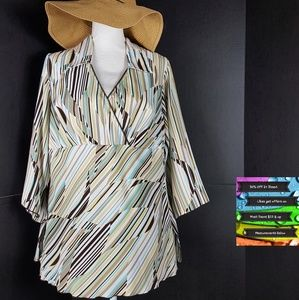 Like New! Abstract Blouse